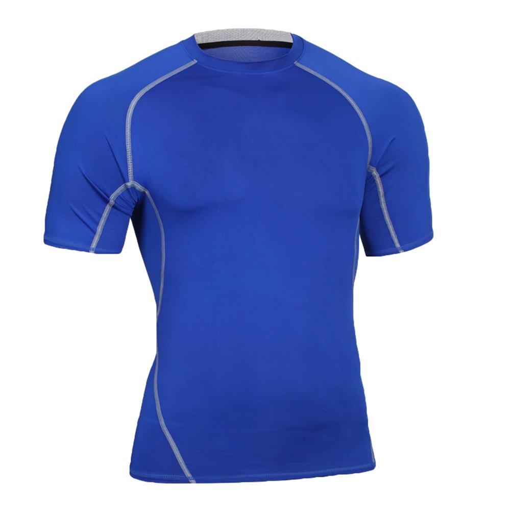 Yiiquan Herren Sport T Shirt Fitness Funktion Training Running Tennis Sportshirt Männer Funktionsshirt Kurzarm