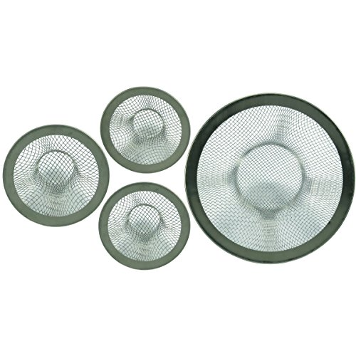 0.75' Bath Sink - HTS 315S4 4Pc Stainless Steel Mesh Sink Strainer Set