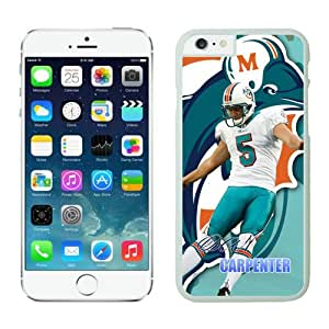 NFL Miami Dolphins Dan Carpenter iPhone 6 Cases White 4.7 Inches NFLIphone6Cases12620