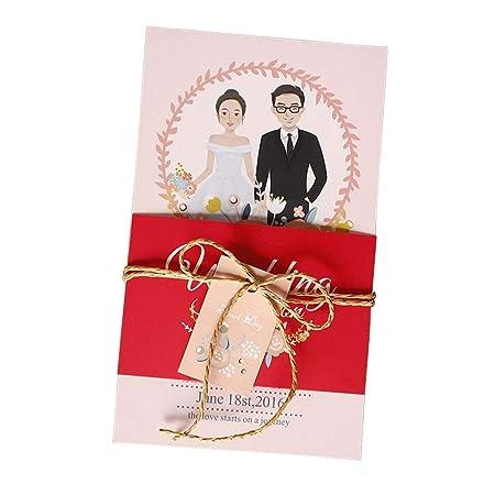 Jxs Wedding Tarjeta De Invitación De Boda Paquete De 100