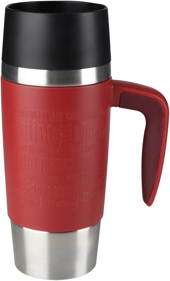 "Emsa Vacuum mug""Travel Mug"" with handle 12.2 fl .oz. in red, Red"