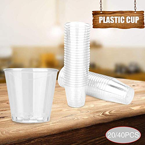 Best Quality 20pcs 40pcs Clear Plastic Disposable Party Shot Glasses Jelly Cups, Shot Glass Plastic - Disposable Glass, Plastic Drinking Glasses Disposable, Tall Plastic Shot Glasses, Plastic Cups Oz by SKS-2