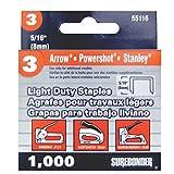 Light Duty, Chisel Point, 5/16 Arrow JT21 Type Staple, 1000/Box, 5 Pack