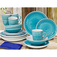 Amazon.com: dishes turquoise