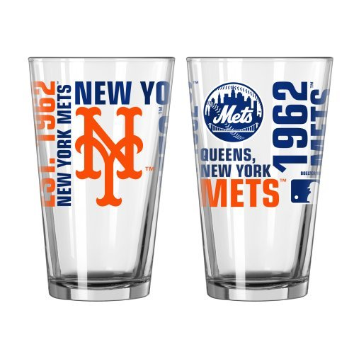 2015 Baseball MLB Spirit Series Beer Pints – 16 ounce Mixing Glasses, Set of 2 (Mets) Review
