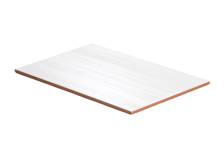 Happy Nacar Wandfliesen 25x40 cm mit schraffierter Glanz-Optik 1 m/² matt wei/ße Fliesen