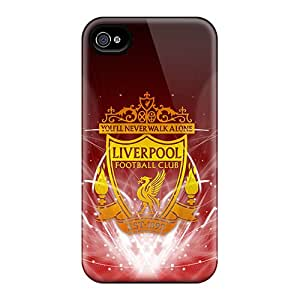 DustinFrench Iphone 4/4s Protector Hard Cell-phone Case Support Personal Customs Trendy Liverpool Fc Pattern [AhF5032ZIbC]
