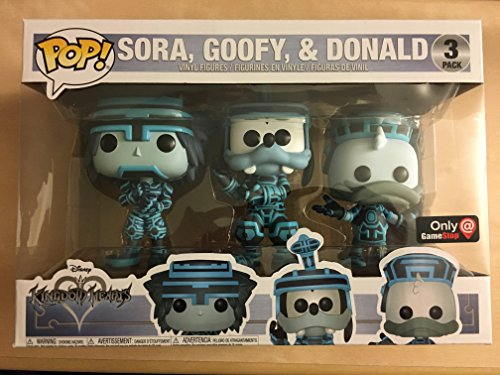 Funko Pop! Disney Kingdom Hearts - Sora, Goofy, & Donald (Tron) 3 Pack Gamestop Exclusive