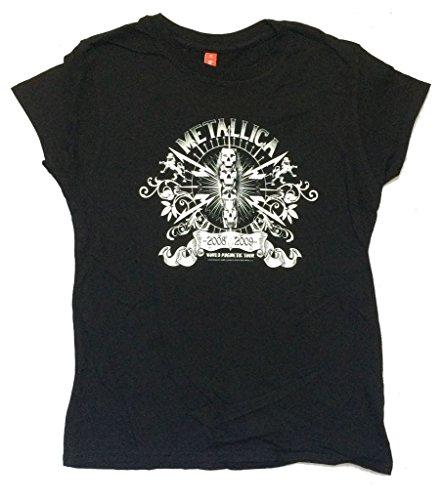 Real Swag Inc Metallica World Magnetic 2008 2009 Tour Girls Juniors Black T Shirt (M)
