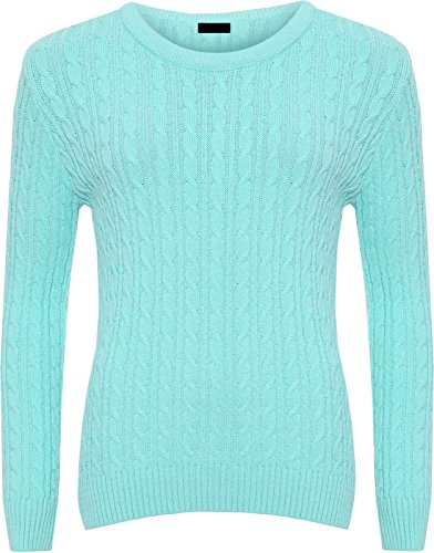 Turquoise Pull Manches Femme Pull Longues Threadwear nyfwx16UzU