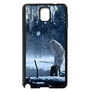 Wolf and moon,smart wolf series protective cover For Samsung Galaxy NOTE3 Case Cover u-ycq-s52485