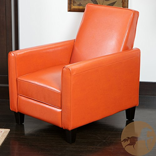(Christopher Knight Home 252422 Lucas Recliner Club Chair, Orange)