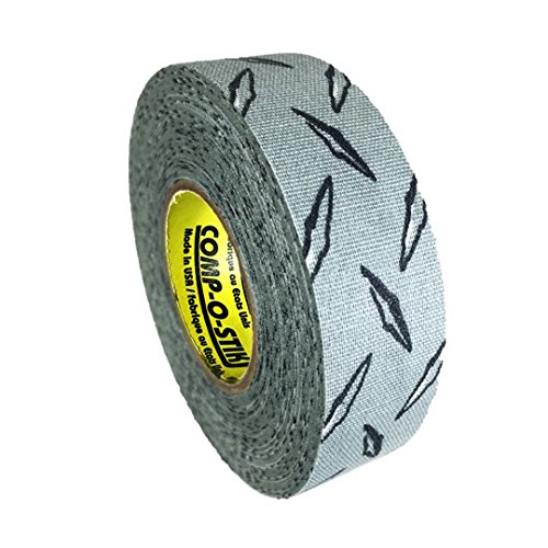 Comp-O-Stik ATHLETIC TAPE (Hockey Lacrosse Stick Tape, Baseball Bat Tape) Made In The U.S.A. (Diamond Plate, 1