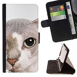 Momo Phone Case / Flip Funda de Cuero Case Cover - Cara Peterbald Bambino gato sin pelo; - Samsung Galaxy Note 5 5th N9200