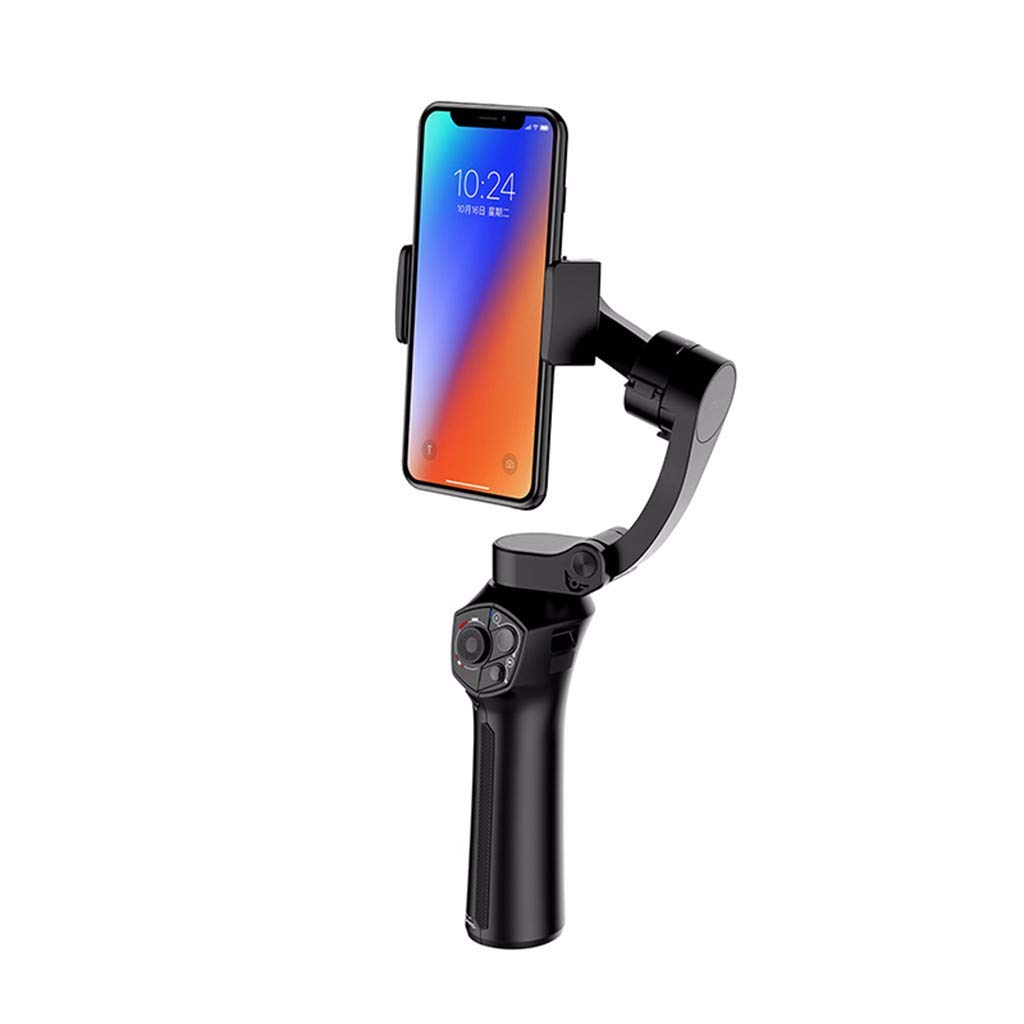 Smartphone Gimbal Stabilizer 3-Axis Handheld Gimble for iPhone Xs Max Xr X 8 Plus 7 6 Se Mobile Gimbal Stabilizer for Android Phone Samsung Galaxy S9+ S9 S8+ S8 S7 S6 Q2 Edge (Black)