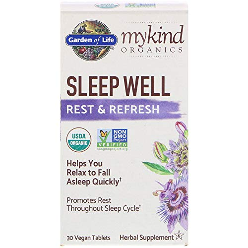 Garden of Life, MyKind Organics, Sleep Well, Rest & Refresh, 30 Vegan Tablets ()