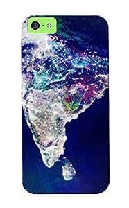 Improviselike New Arrival Iphone 5c Case Satellite Image Of India Case Cover/ Perfect Design