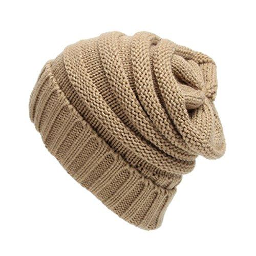 Stricken Wolle Warm Mütze - iParaAiluRy Unisex Luxuriöse Modische Soft Slouchy Cap im Winter und Frühling