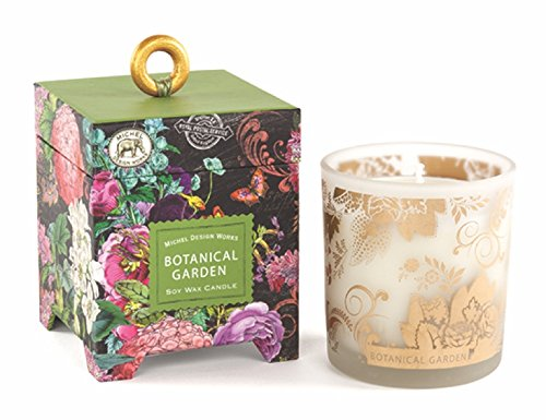 Michel Design Works Gift Boxed Soy Wax Candle, 6.5-Ounce, Botanical Garden