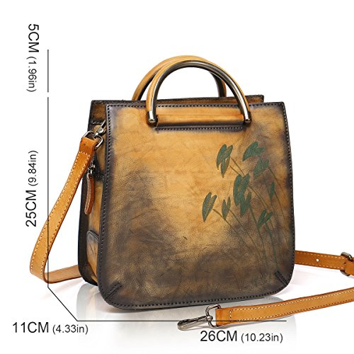 Bags Women for Satchels Ladies Handbags Totes Shoulder Soft Leather Designer Brown APHISON WOqwaYva