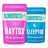 Slendertoxtea - 14 Day Teatox: 21 Premium Pyramid Teabags (No Loose Leaf), Appetite Suppressant, 100% Organic, No Laxative Effect, Increased Metabolism, Energy Boost, Reduced Bloating, Made in the UK [Weight loss tea, Diet tea, Detox Tea, Diet Supplement]