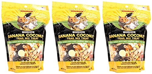 51rN3sQbVDL - Sun Seed Vitakraft Vita Prima Banana Coconut Trail Mix Treat 5 Ounce. (Pack of 3)