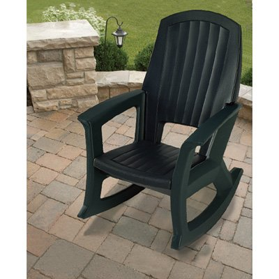 Rocking Chair - 600-Lb. Capacity (Green Outdoor Rocking Chair)