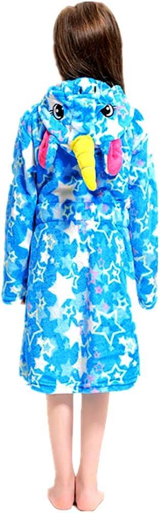 Unisex Hooded Gift for Girl and Boys Soft Unicorn Girl Bathrobe Hoodie