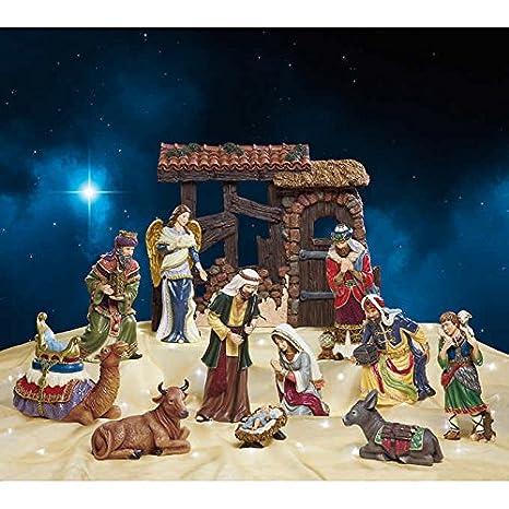 low priced 32508 aad16 Amazon.com: Kirkland Signature Hand-painted Nativity: Home ...