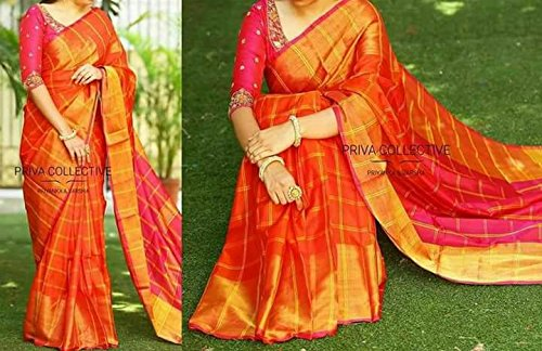 df0e1dbd76 Image Unavailable. Image not available for. Colour: Uppada Pattu Sarees ...