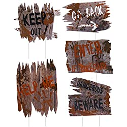 Unomor Halloween Outdoor Decorations, 5 PCS Yard Signs Stakes, DIY Halloween Outside Home House Theme Party Decor Props