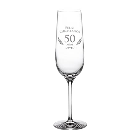 AMAVEL - Copa de Cava para Cumpleaños - 50 Cumpleaños - con ...