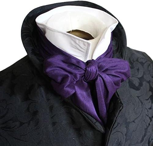 elegantascot Hombre Hecho a mano REGENCY Cravat Pure Dupioni seda ...