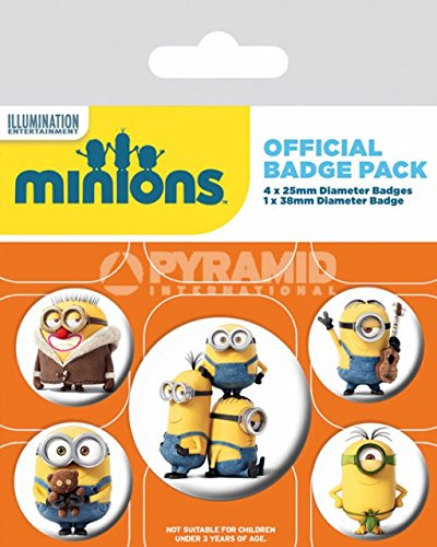 Minions Spilla Pin Badges 5 Pack Pyramid International Grindstore BP80504