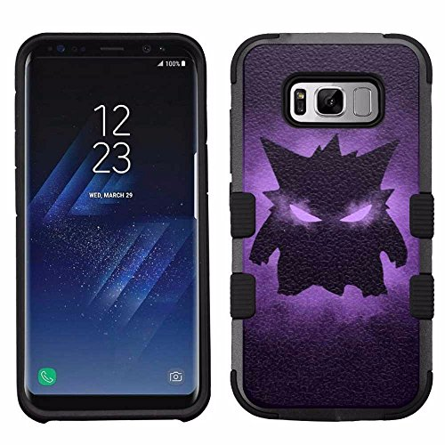 for Samsung Galaxy S8, Hard+Rubber Dual Layer Hybrid Heavy-Duty Rugged Armor Cover Case - Pokemon Monster Gengar Photo - Pokemon Gaming
