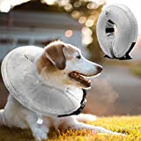 TAITIAN Protective Inflatable Collar Adjustable Soft Recovery collars Prevent Dogs Touching Cats Biting from Wound (Medium Neck CIR 9-12 inch)