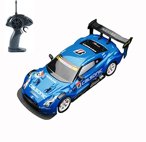 Hobby-Ace Super GT RC Sport Racing Drift Car, Electric Remote Control Car for Adults Kids Gifts, 1/16 Scale 4WD RTR Module Vehicles with 6 Battery and Drift Tires by (Blue)