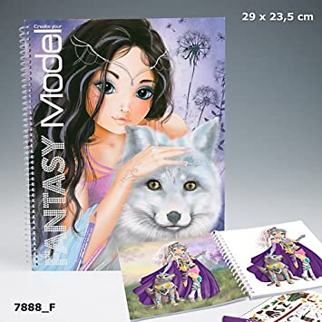 Create Your Fantasy Model Malbuch Wolf Mit Sticker Und Malvorlagen