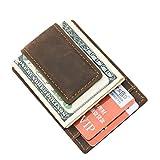 Boleke Men Genuine Leather Magnet Money Clip Crad Case Holder Slim Handy Wallet