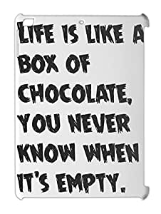 Life is like a box of chocolate, you never know when it's iPad air plastic case