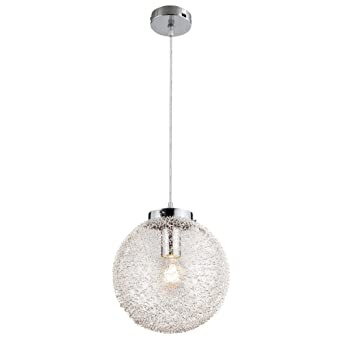 Chrom Decken Pendel Leuchte Schlaf Zimmer Beleuchtung Hänge Strahler ALU Lampe