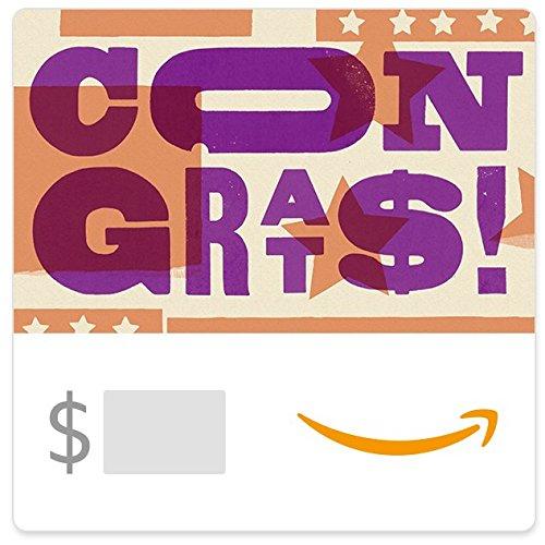 - Amazon eGift Card - Congrats (Letterpress)