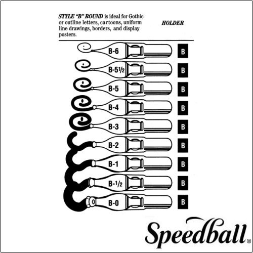 Speedball Round Pen Nibs B-5 box of 12 by Speedball   B000BYVM02