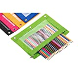 Zippered Binder Pencil Pouch with Rivet Enforced