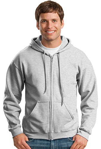 Ash Hoody Full Sweatshirt Zip (�Gildan Adult Heavy Blend� Full-Zip Hooded Sweatshirt (Ash) (X-Large))