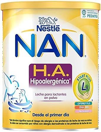 NAN H.A. Hipoalergénica - Leche para lactantes en polvo - Fórmula para bebé - Desde el primer día - 800g: Amazon.es: Alimentación y bebidas