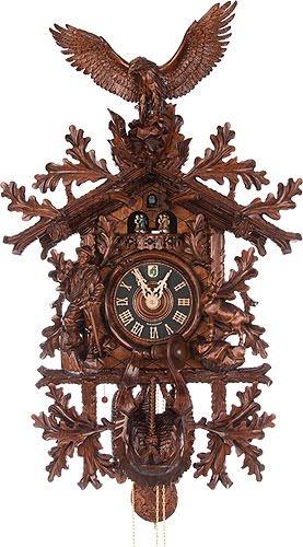 Hönes Cuckoo Clock Hunting clock,Eagle, Hunter - Hunting Cuckoo Clock