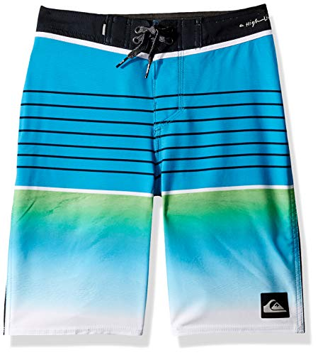 Quiksilver Big Boys' Highline Slab Youth 18 Boardshort Swim Trunk, Malibu, 24/8
