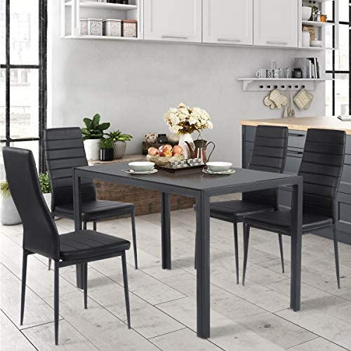 home, kitchen, furniture, kitchen, dining room furniture,  table, chair sets 5 image Giantex 5 Piece Kitchen Dining Table Set with deals