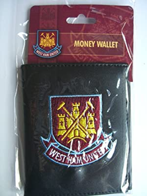 Official West Ham United FC Leather Look Embroidered Money Wallet